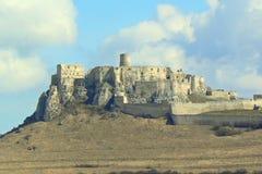 Ruinen des Schlosses in Slowakei lizenzfreie stockfotografie