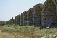 Ruinen des Stadions in Perga lizenzfreie stockbilder