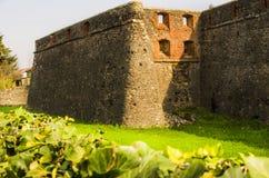 Ruinen des Steinschlosses. Lizenzfreies Stockbild