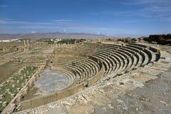 Ruinen des Theaters in Timgad Stockbilder