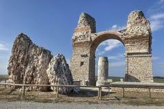Ruinen des Triumphbogens in Carnuntum Lizenzfreies Stockbild