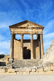 Ruinen Dougga Medina, Tunesien lizenzfreie stockbilder