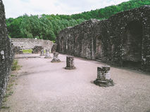 Ruinen einer Abtei Stockbild