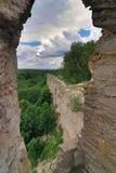 Ruinen einer alten Festung Stockbild