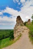 Ruinen einer alten Festung Stockfotos