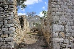 Ruinen einer alten Stadt Stockfoto