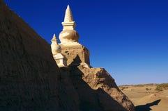Ruinen einer alten Stadt in der Wüste Lizenzfreies Stockbild