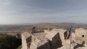 Ruinen einer alten Zitadelle stock video