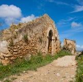 Ruinen einer Stadt in Sizilien Stockfotografie