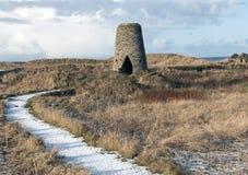 Ruinen einer Windmühle Stockbild