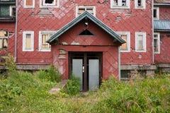Ruinen eines alten Hotels Stockbild