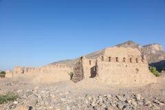 Ruinen eines Dorfs von Oman Lizenzfreies Stockbild