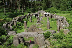 Ruinen eines Druide-Tempels, North Yorkshire Lizenzfreie Stockfotografie