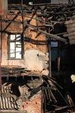 Ruinen eines Feuers valparaiso Lizenzfreie Stockfotografie