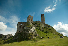 Ruinen eines Schlosses Lizenzfreies Stockbild