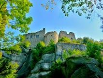 Ruinen eines Schlosses stockbild
