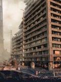 Ruinen eines Wolkenkratzers Lizenzfreies Stockfoto