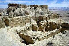 Ruinen in Guge-Königreich stockfotografie