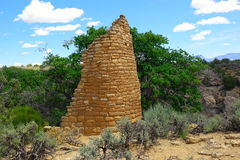 Ruinen Hovenweep Stockbild