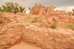 Ruinen im aztekischen New Mexiko Stockbilder