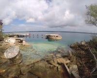 Ruinen im South Pacific Stockfotos