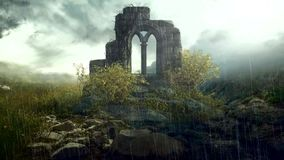 Ruinen innerhalb des Waldes stock footage