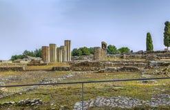 Ruinen in Italica, Spanien lizenzfreie stockfotografie