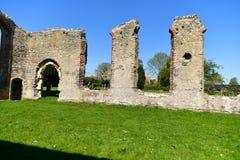 Ruinen-Kirche St Andrew, Walberswick Großbritannien, Stockbild