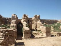 Ruinen Kyr Kyz nahe Termiz Stockfotos