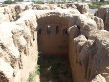 Ruinen Kyr Kyz nahe Termiz Stockbild