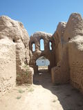 Ruinen Kyr Kyz nahe Termiz stockbilder