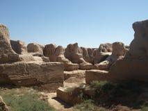 Ruinen Kyr Kyz nahe Termiz lizenzfreies stockfoto