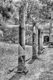 Ruinen am Landhaus Adriana (Hadrians Landhaus), Tivoli, Italien Lizenzfreies Stockfoto