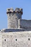 Ruinen mittelalterlichen Schlosses des des 14. Jahrhunderts, Ogrodzieniec-Schloss, Spur Lizenzfreie Stockfotos