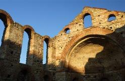 Ruinen in Nessebar Stockbild