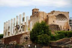 Ruinen Roman Forums, Rom, Italien Lizenzfreie Stockfotos
