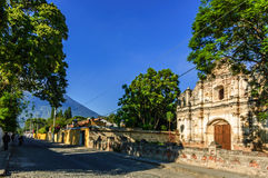 Ruinen Sans Jose el Viejo, Antigua, Guatemala Lizenzfreie Stockfotos