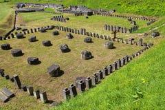 Ruinen Sarmizegetusa Regia Stockfotos
