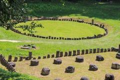 Ruinen Sarmizegetusa Regia - der heilige Bereich Stockbilder