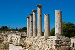 Ruinen am Schongebiet von Apollon Ylatis, Zypern Lizenzfreie Stockbilder