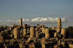 Ruinen in Selinunte Stockfotografie