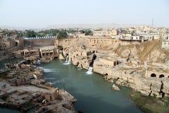 Ruinen in Shushtar stockbilder