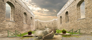 Ruinen St. Raphaels stockbilder