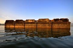 Ruinen-Tempel im Wasser stockbilder