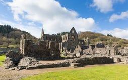 Ruinen Tintern Abbey Chepstow Wales Großbritannien Lizenzfreie Stockfotografie
