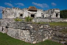 Ruinen in Tulum, Mexiko Lizenzfreie Stockfotografie