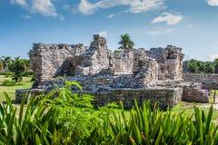 Ruinen in Tulum, Mexiko Stockfotografie