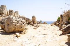 Ruinen und Meer Stockfoto