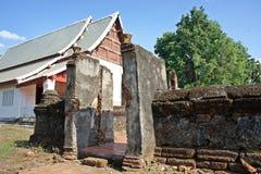 Ruinen versehen und Schongebiet mit einem Gatter Stockbilder