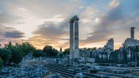 Ruinen vom größten im Welt-Apollo-Tempel stock footage